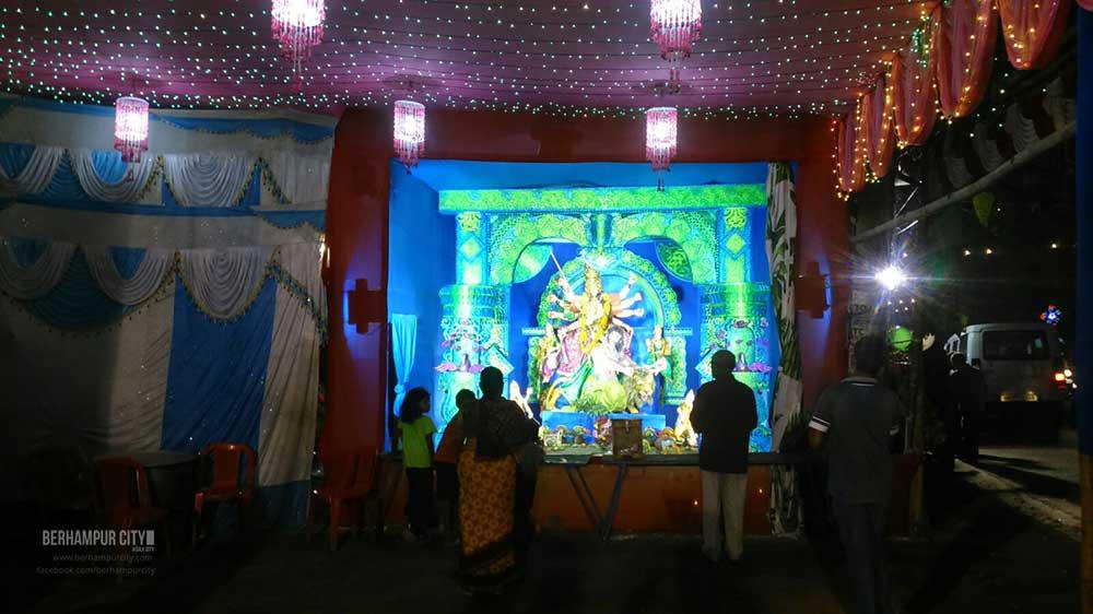 Durga Puja Water Tank Road Berhampur City