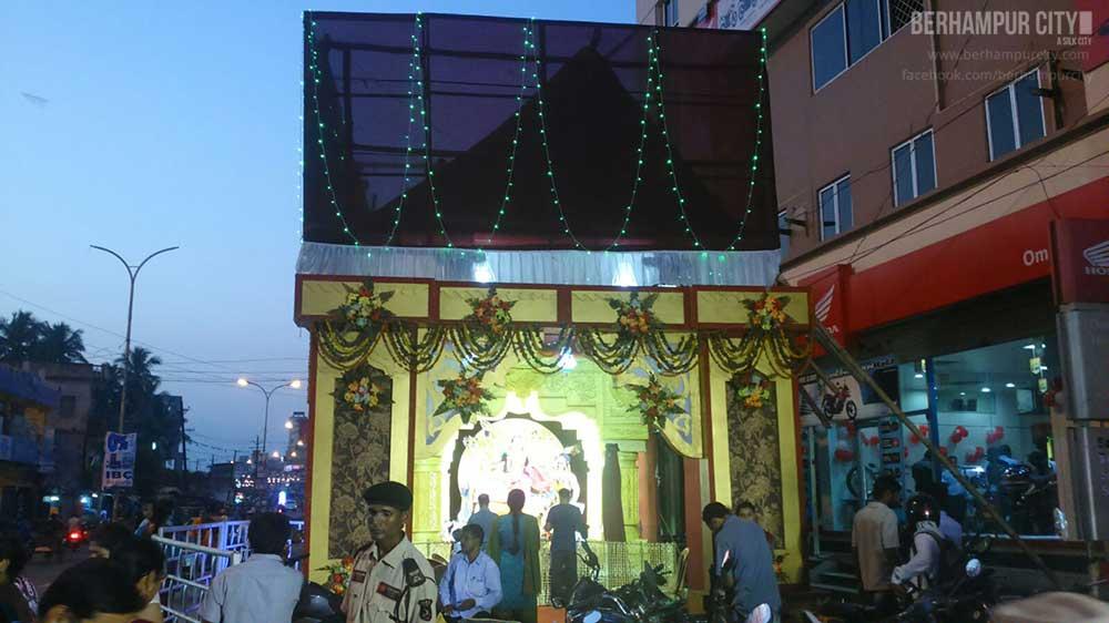 Durga Puja Tata Benz Square Berhampur City