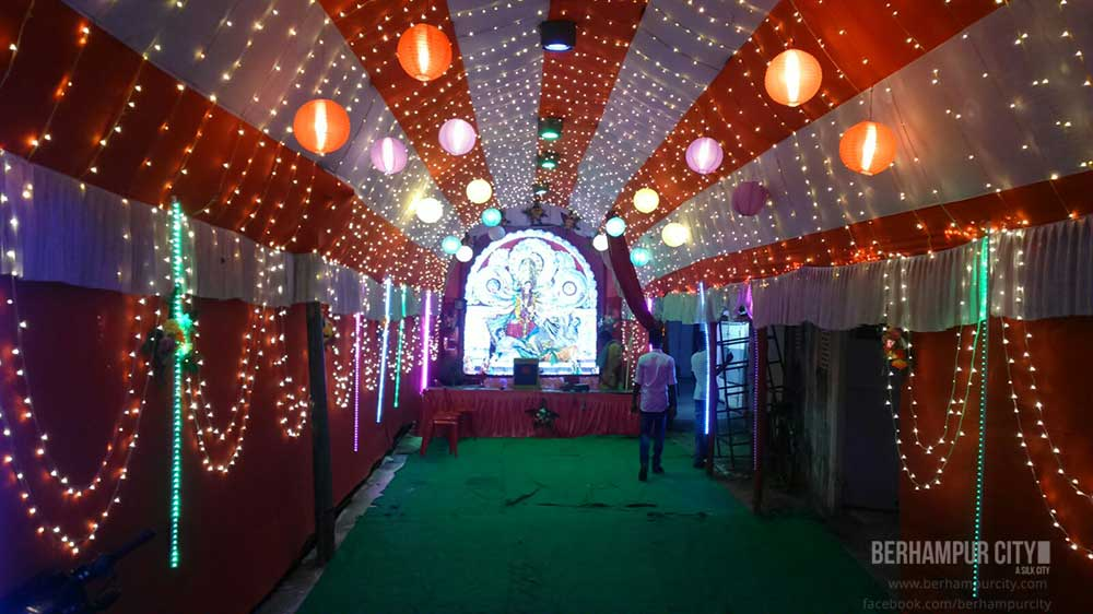 Durga Puja at Subbarao Junction Berhampur City